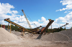 Crushing and screening plant Royalty Free Stock Image