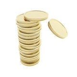 Crushing stack of golden coins Royalty Free Stock Photo