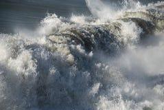 Crushing Wave, Lido di Camaiore, 2008. A powerful wave approaching Lido di Camaiore Beach, Italy Stock Photos