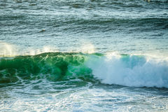 Crushing wave in ocean at Fingal Heads, Gold Coast Hinterland Royalty Free Stock Photos