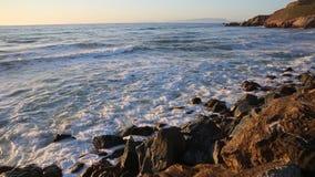 Crushing waves stock footage