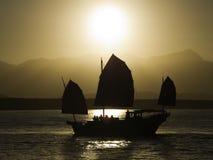 Crusie de la puesta del sol   Imagen de archivo