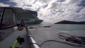 Crusie ships, St. Thomas stock video footage