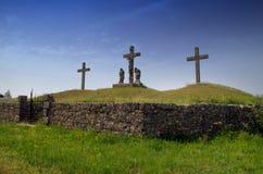 The crusifiction of Jesus Christ in Zminj,Istria,Croatia Stock Photo