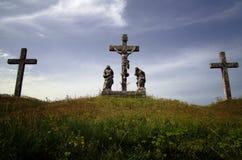 Crusifiction van Jesus Christ in Zminj, Istria, Kroatië Royalty-vrije Stock Afbeeldingen