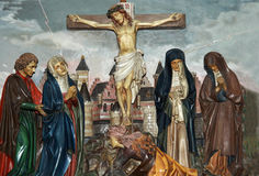 Crusifixion of Jesus Christ. A picture of crusifixion of Jesus Christ Royalty Free Stock Image