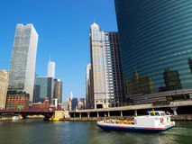 Crusing In The Chicago River Stock Photography