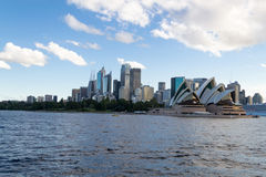 Crusing the Sydney Harbour. Sydney Opera house and Harbor Bridge are the most iconic monuments in Sydeny Royalty Free Stock Images