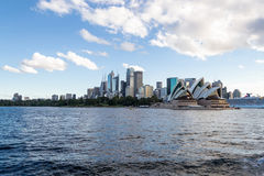 Crusing the Sydney Harbour. Sydney Opera house and Harbor Bridge are the most iconic monuments in Sydeny Stock Photography