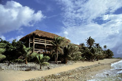 Crusoe's Home. Water view of Tropical locale Stock Image
