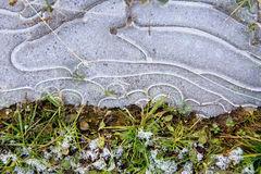 Crust of ice. Royalty Free Stock Photography