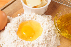 Crust ingredients. Stock Images