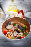 Crustacean over casserole Stock Image