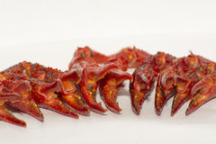 Crustaceans. Crawfish Claws on a white background Stock Photography