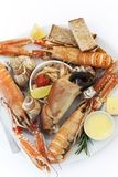 Crustaceans on a plate Royalty Free Stock Photography