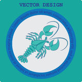 Crustaceans. Round icon. Royalty Free Stock Photo