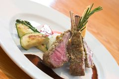 Crusted Lamb Chops Royalty Free Stock Photos