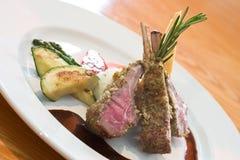 Crusted Lamb Chops Royalty Free Stock Photos