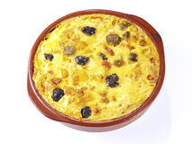 "Crusted rice – Arroz con costra. The ""Arroz con Costra"" is a typical rice recipe from the South part of the Valencia Region: Elche (south of Alicante) Stock Photo"