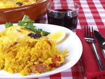 Crusted rice – Arroz con costra Stock Photos