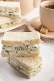 Crustless Lunch Cucumber Sandwiches Royalty Free Stock Photography
