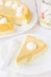 Crustless Pumpkin and Quark (Cottage Cheese) Cheesecake Royalty Free Stock Photography