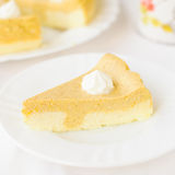 Crustless Pumpkin and Quark (Cottage Cheese) Cheesecake Royalty Free Stock Image