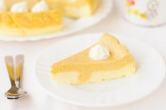 Crustless Pumpkin and Quark (Cottage Cheese) Cheesecake Stock Image