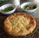 Crustless Quiche Entre Pie Royalty Free Stock Photos