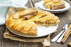 Crusty Apple Pie with Cinnamon Stock Photos