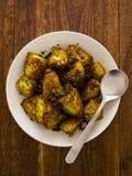 Crusty baked potatoes Stock Image