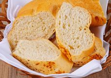 Crusty bread in basket. Stock Photography
