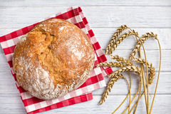 Crusty bread with wheat Stock Image