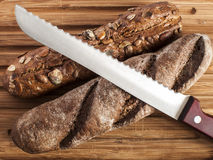 Crusty fresh homemade rye bread Royalty Free Stock Photography