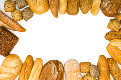 Crusty homemade bread frame Royalty Free Stock Photography