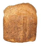 Crusty Loaf of Wholegrain Bread Isolated Against White Background Stock Photo