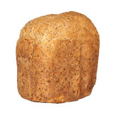 Crusty Loaf of Wholegrain Bread Isolated Against White Background Stock Photos