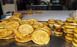 Crusty pancake, local food of Xinjiang Stock Image