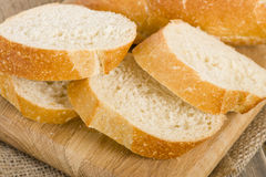 Crusty White Bread Royalty Free Stock Photos