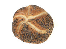 Crusty White Seeded Bread Roll Stock Photography