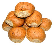 Crusty Wholemeal Bread Rolls Royalty Free Stock Image