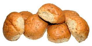 Crusty Wholemeal Bread Rolls Stock Image
