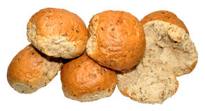 Crusty Wholemeal Bread Rolls Royalty Free Stock Photography