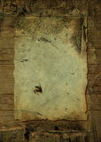 Crusty wood parchment Stock Images