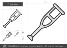 Crutch line icon. Stock Photos