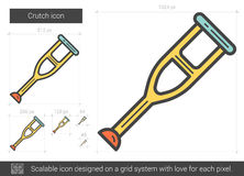 Crutch line icon. Royalty Free Stock Images
