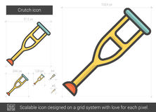 Crutch line icon. Royalty Free Stock Photography
