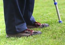 crutches ноги Стоковые Фото