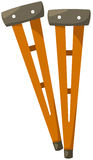 Crutches. Illustration of isolated crutches on white Royalty Free Stock Photography