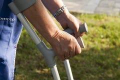 crutches Immagini Stock Libere da Diritti